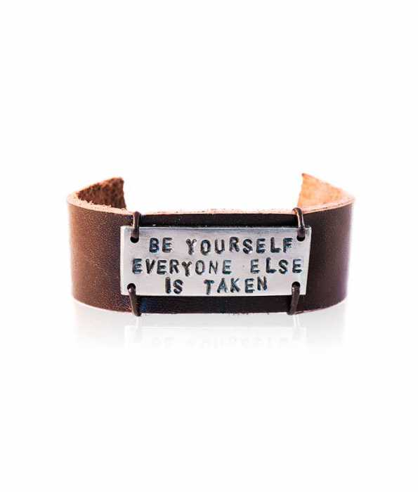 """""""BE YOURSELF"""" LEATHER BRACELET"""