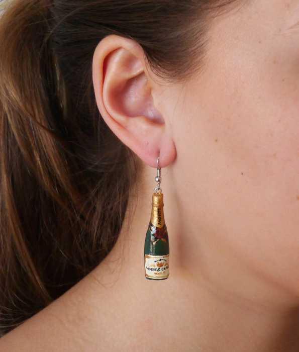 CHAMPAGNE EARRINGS, Green