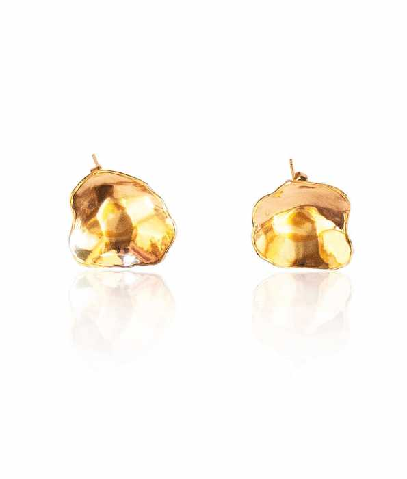 CRATER EARRINGS, GOLD